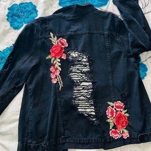 Shredded Jean Jacket